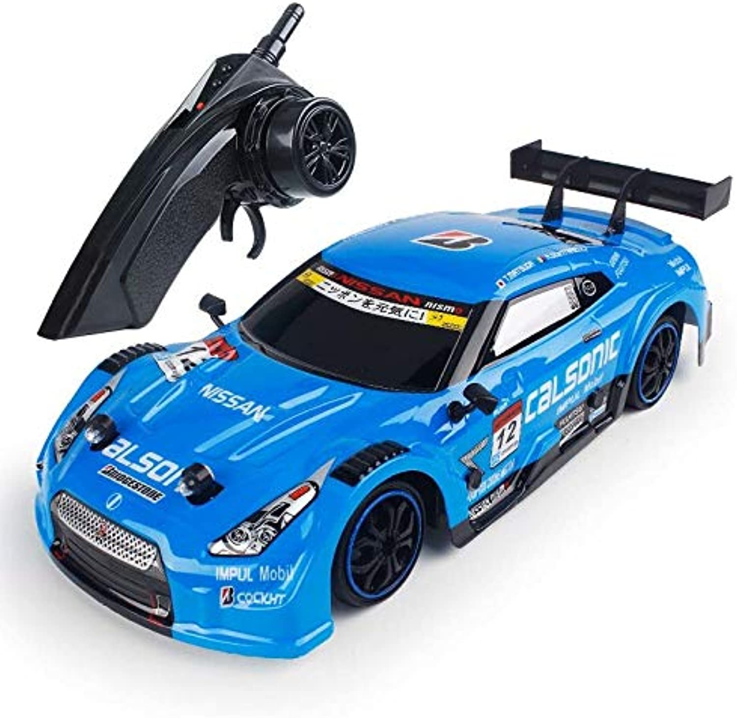 Generic RC Car for GTR   Lexus 4WD Drift Racing Car Championship 2.4g Off Road Rockstar Radio Vehicle Remote Control Electronic Hobbies bluee