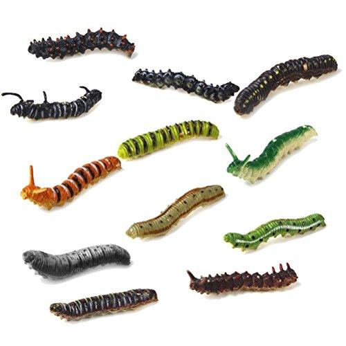 PIXNOR Mini Insectes Miniature Jouet Petits animaux - 12 pièces