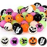 Sumind 40 Piezas Bolas de Rebote Bolas Hinchables Mixtas de Halloween con 5 Diseños de Tema de Halloween para Recompensas de Juegos en Aula Escolar, Trucos o Golosinas, 27 mm/ 1 Pulgada