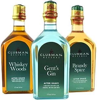 Pinaud Clubman rezerwuje Trio balsam po goleniu, łącznie z lasami do whisky, męski gin, przyprawy, zapach buteleczki 3 x 1...