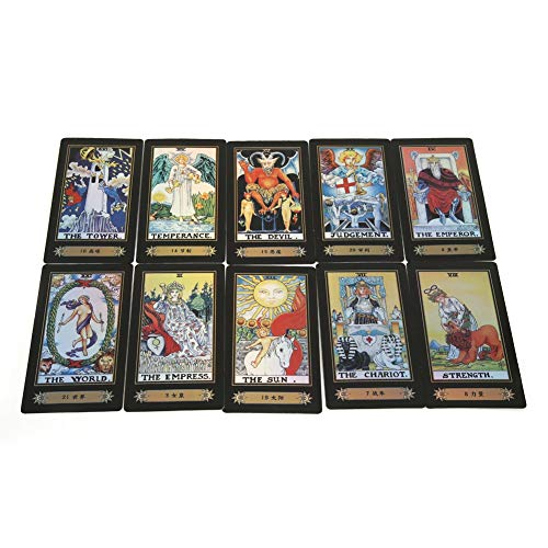 Zerodis Tarot Cards for Beginner Deck Vintage 78 Tarjetas Rider Waite