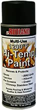 Rutland Products 80 Hi-Temp Paint, 12 fl oz, Black