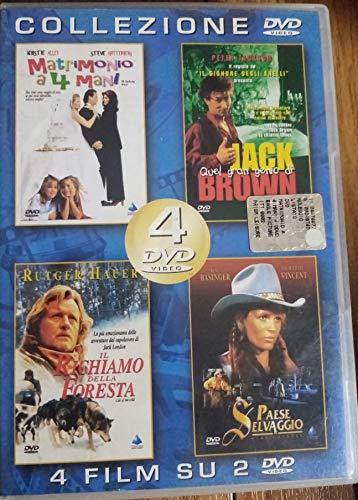 MATRIMONIO A 4 MANI - QUEL GRAN GENIO DI JACK BROWN - IL RICHIAMO DELLA FORESTA - PAESE SELVAGGIO - COLLEZIONE 4 FILM SU 2 DVD
