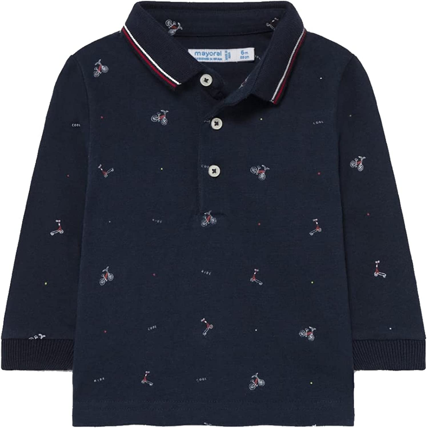 New product Mayoral free - Printed Polo Blue Baby-Boys 2142 for