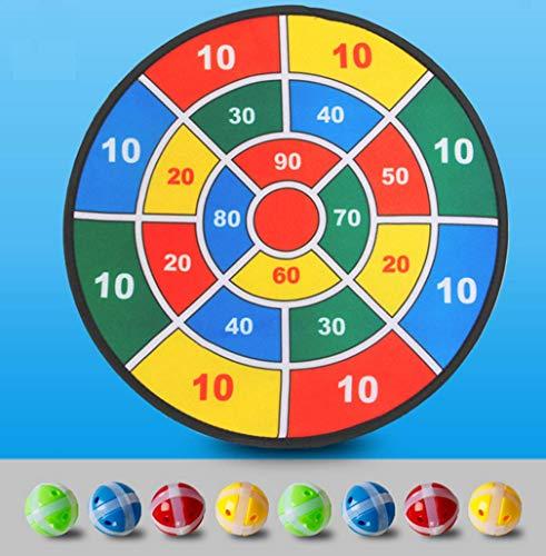 AWSW Kids Safe Fabric Dart Board Game Set/Ringwurf Werfen Dartscheibe Darts Ziel Kinder Indoor-und Outdoor-Spielzeug Eltern-Kind-Sticky Ball Fabric Darts Ziel Sticky Disk Safe Darts 37 * 37cm