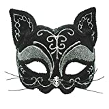 Bristol Novelty EM365 Katze Augenmaske, Schwarz, Einheitsgröße