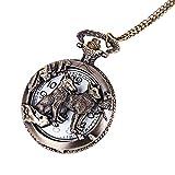 YHWW Reloj de bolsill o2019 Nueva Full Metal Alchemist Bronce Antique Pocket Watch Anime Pocket Watch Mens Fob Relojes