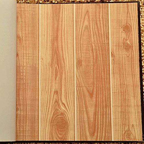 bnbnmbmv689 Vintage Holz Tapete PVC Wasserdicht 3D Modernes Design Wandverkleidung Holzdiele Tapete Für Schlafzimmer Wohnzimmer Dekor Wände 400 cm * 200 cm (H)