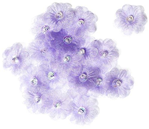 Crafty Impressions Bilderrahmen, flach, aus Organza, Blumenmuster, Violett