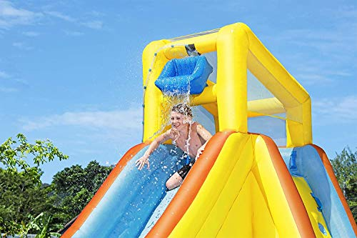 Bestway H20Go Beachfront Bonzanza Bouncy Castle Park with Water Slide and Climbing Wall, Multi