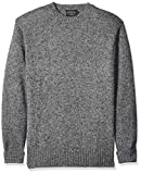 Pendleton Herren Shetland Crew Neck Sweater Pullover, Pepper Marl, Groß