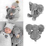 1PCかわいい枕象キッズソフトスタッフぬいぐるみ人形ロングノーズランバークッションシスターリトルぬいぐるみ象のおもちゃ 写真として