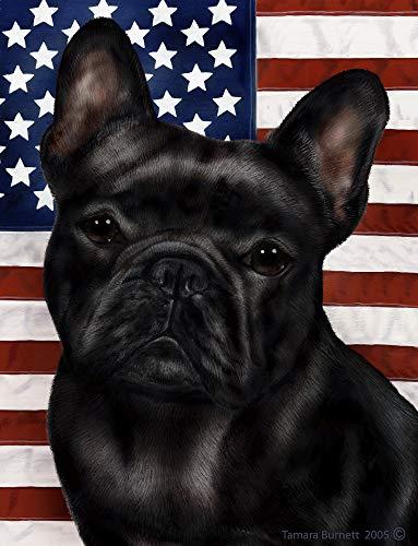 Best of Breed French Bulldog Black Patriotic II Garden Flags