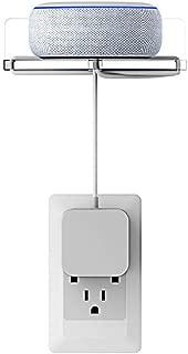 Dot3 ホルダー Echo Dot第3世代用 スマート スピーカー マウント コード収納 スタンド カバー 保護ホルダー Dot3 保護ケース Dot3 ケース スピーカースタンド アクセサリー Echo Dot 3/2/Google Home/Google Home Mini/Google Wifi/防犯カメラ/スマホなどに対応ホルダー 壁掛けホルダー 白
