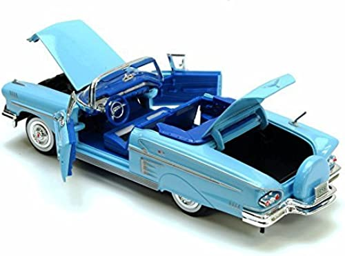 1958 Chevrolet Impala ConGrünible, Blau - Motormax Premium American 73267 - 1 24 Scale Diecast Model Car by Motor Max
