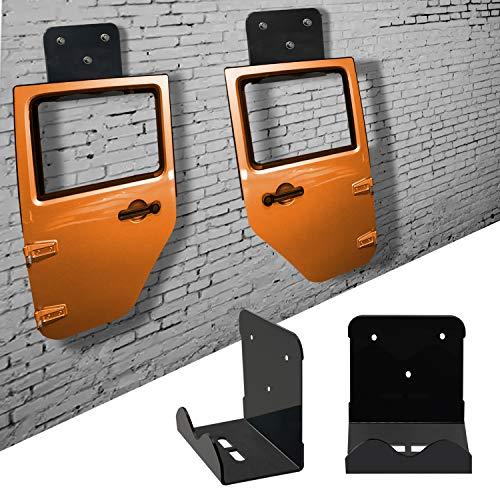 Bentolin Door Hanger Storage Rack Bracket, Door Wall Mount Storage Compatible for CJ YJ TJ LJ JK JKU and The All New JL, Pack of 2