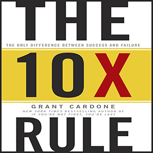 The 10X Rule     The Only Difference Between Success and Failure              Written by:                                                                                                                                 Grant Cardone                               Narrated by:                                                                                                                                 Grant Cardone                      Length: 7 hrs and 24 mins     692 ratings     Overall 4.6