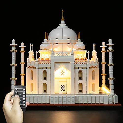WWEI Fernbedienung LED Beleuchtungsset Lichtset für 21056 Taj Mahal LED Licht-Set Kompatibel mit Lego (Ohne Lego Set)-mit Batteriebox
