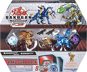 Bakugan Baku-Gear 4-Pack Dragonoid Ultra with Baku-Gear and Howlkor Ultra Collectible Action Figures Kids Toys for Boys