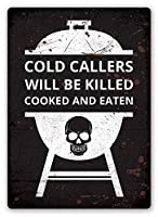 コールドコーラーが調理済みで食べて殺された 金属板ブリキ看板警告サイン注意サイン表示パネル情報サイン金属安全サイン