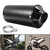 Silenziatore di Scarico per Moto, 28mm Silenziatore per Tubo di Scarico Moto in acciaio inox Tubo di...