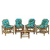 Jogo De Sofá De Bambu Poltronas Cadeira De Vime, para ára, varanda, edícula, sacada, área gourmet, artesanal 0159