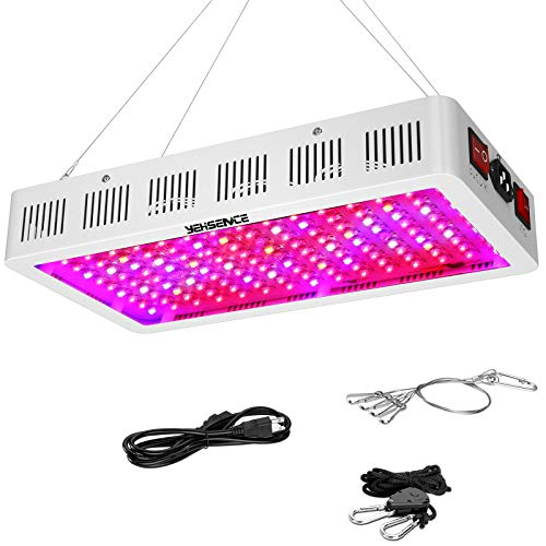 1500W LED Grow Light with Bloom and Veg Switch,Yehsence Triple-Chips (15W LED) LED Plant Growing Lamp Full Spectrum with Daisy Chained Design for Professional Greenhouse Hydroponic Indoor Plants
