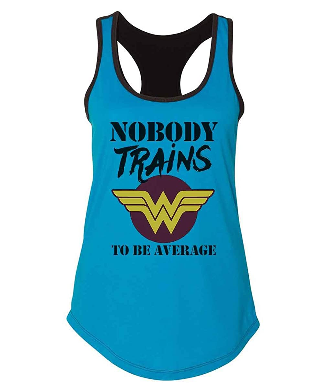 Funny Workout Tanks Nobody Trains To Be Average Superhero Inspired Royaltee Shirts