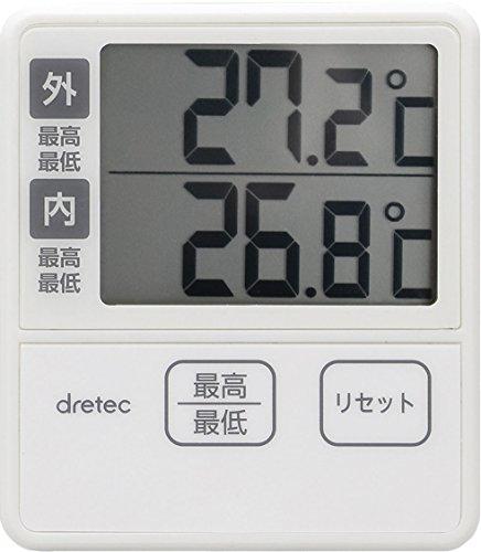 dretec(ドリテック) 温度計 室内 室外 デジタル 壁掛け O-285IV(アイボリー)
