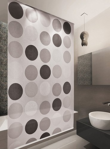 BASIC DUSCHROLLO 160x240 CM MODELL RETRO DUSCHVORHANG GRAU ANTHRAZIT! SHOWER ROLLO GREY!