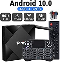 Android TV Box 10.0 2020 Newest Allwinner H616 2.4G 5.8G Dual Band WiFi 4GB 32G Bluetooth 4.1 with Backlit Mini Keyboard 3D Ultra-HD 4K 6K Streaming Media Player Set Top Tv Box