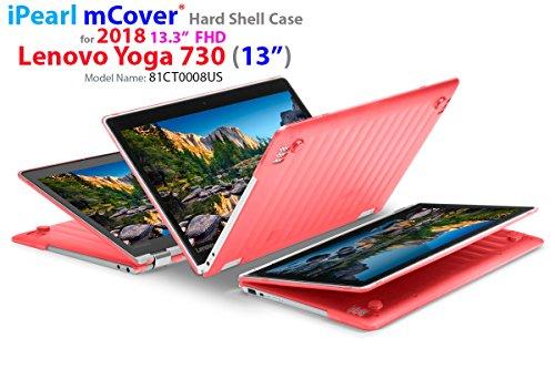 mCover Ligero Funda Dura para Lenovo Yoga 720-13IKB - Portátil Convertible de 13.3' Full HD - Rojo (Modelo: 13' Yoga 720)
