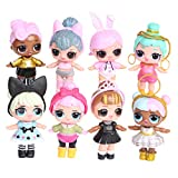 L-O-L Surprise Girl Doll Cake Topper Pastel Decoración Suministros 8Pcs Surprise Doll Figures Toy...