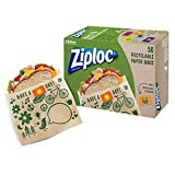 Ziploc brand Paper Bags are a practical, fun and easy way to show how much you care Extra-wide opening makes these sandwich bags simple to fill and snack from Non-wax paper lunch bags, food safe, resealable and recyclable Recyclable bags, with a vari...