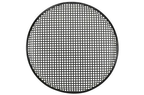 QTX 18Metall Lautsprecher Gitter mit robuster schwarzer Pulverbeschichtung