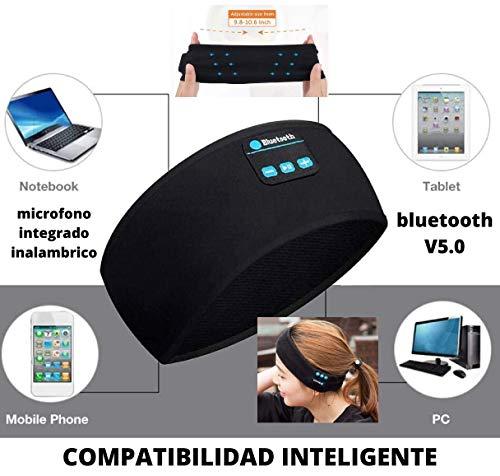 LA GALERIA Espana.-El Mejor Diadema Musica Deportiva Auriculares Inalámbricos Bluetooth Headbands with Integrated Microphones- Diadema Bluetooth V5.0 Deportes