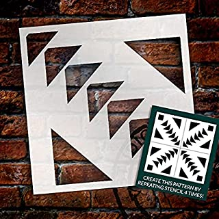 Triangle Diamond Mosaic Tile Stencil by StudioR12 | Reusable Wall Pattern & Floor Tile Stencil | DIY Kitchen Backsplash | ...