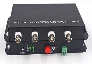 Guantai HD Video to Fiber Optic Extenders/Converters, Work Distance up 20Km FC Optical Port- Support 1080p 960p 720p CVI T...