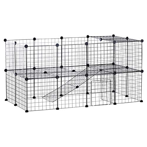 PawHut 36 Panel Pet Playpen Small Animal Cage Metal Wire Indoor Outdoor Portable