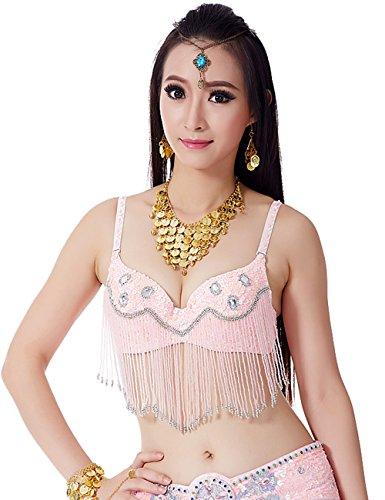 Astage buik danser beha Egyptische dans kostuum kralen pony top zigeuner beha