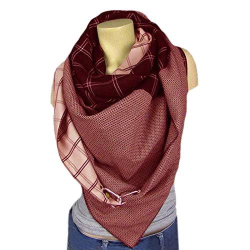 ghn Écharpe d'hiver mignonne 2020 pour femme, tendance, unie, avec boutons imprimés, doux, décontracté, chaud, écharpe multifonction #5 (couleur : E)