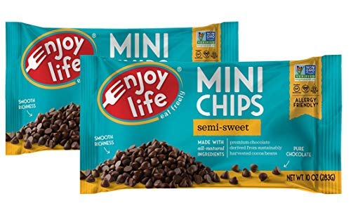 Enjoy Life Semi-sweet Chocolate Mini Chips, 10 Ounce, Pack of 2