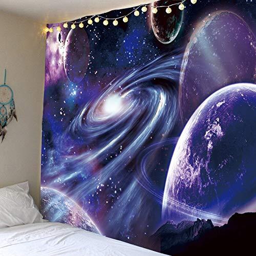 WERT Tapiz de constelación, Tapiz de Planeta Espacial, Tapiz de Galaxia del Universo, Tapiz psicodélico, Mandala, Tela de Fondo A10 130x150cm