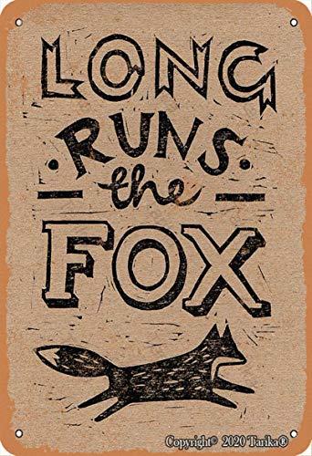 Long Ryns The Fox - Letrero decorativo de hierro para decoración de hogar, cocina, baño, granja, jardín, garaje, citas inspiradoras