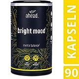 ahead BRIGHT MOOD | Natürlicher Stimmungsaufheller* hochdosiert mit Vitamin B6 für Wohlbefinden und Nervensystem* | Mit Reishi, L-Tryptophan, 5 HTP, Reishi, Vitamin B6 und B12 | 90 vegane Kapseln