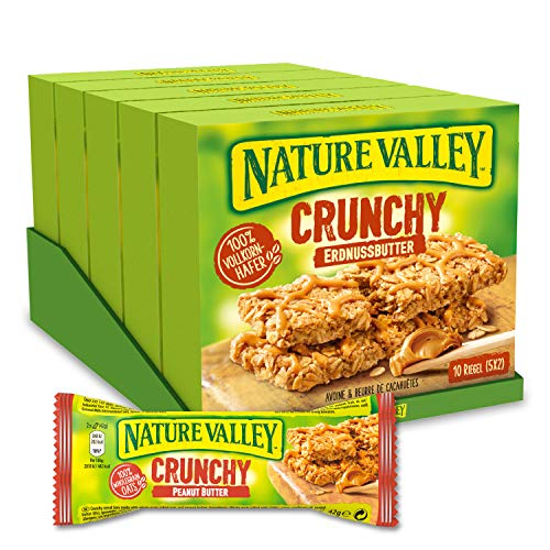 Nature Valley Crunchy Erdnussbutter, Müsliriegel, 5er Pack (5 x 210 g)
