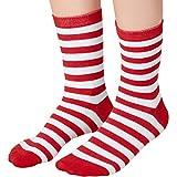 dressforfun 900858 Unisex Weihnachts Socken, atmungsaktiv, rot weiß gestreift - Diverse Größen - (43-46   Nr. 303513)
