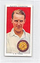 John Timms 1938 Player Cigarettes Cricketers #27 (VG)