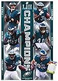 Trends International NFL Philadelphia Eagles - Commemorative Super Bowl LII - Champions Wall Poster, 14.725' x 22.375', Premium Poster & Mount Bundle