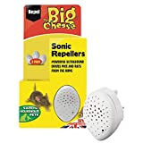 The Big Cheese Sonic Repeller (Humane Rodent Pest Deterrent to Repel Rats and Mice from the Home, Covers Upto 37 sq m), Pack of 3